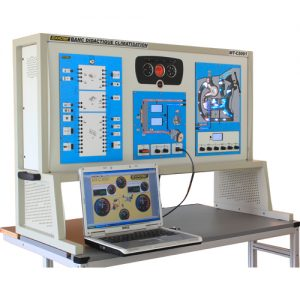 Exxotest automatic air conditioning simulator with REFLET data acquisition application