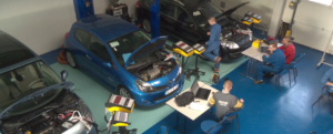Exxotest equipments in automotive technology training center