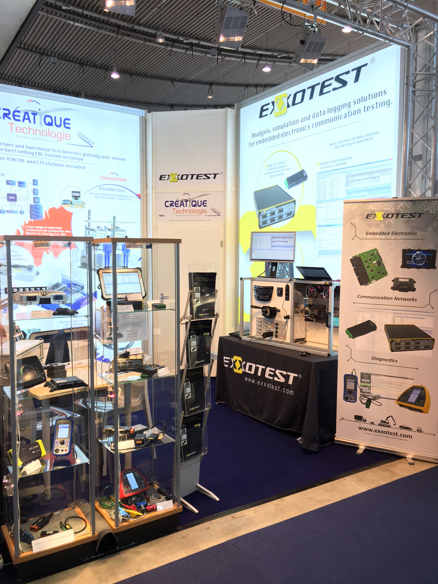 Exxotest booth Automotive Testing Expo 2017